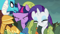 Ember removes Twilight and Rarity's disguise S6E5.png