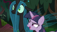 Fake Twilight mocking Queen Chrysalis S8E13