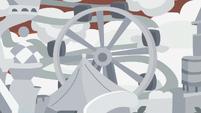 Ferris wheel rotating in model resort S8E16