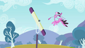 Flamingo falling off a seesaw S2E07.png