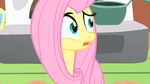 Fluttershy surprised by the CMC's actions S1E17