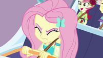 Fluttershy tightly clenching her eyes EGROF