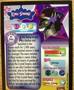 King Sombra trading card series 2 back