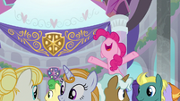 Pinkie Pie happy to see Prince Rutherford S8E1