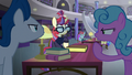 Ponies shushing Moon Dancer S5E12.png