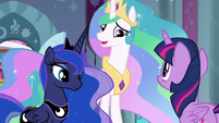 "Princess Celestia ""Luna and I have decided"" S9E2"