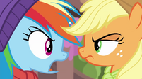 "Rainbow Dash to Applejack ""forever!"" BGES1"