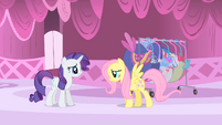 Rarity and sad Fluttershy S1E20