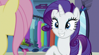 Rarity grinning with hope S8E4