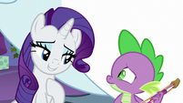 Rarity moved by Spike's song MLPBGE