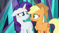 Rarity thinking about Sweetie Belle S9E2