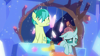 Sandbar and Ocellus feel ground shake S9E3