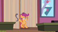 Scootaloo leaving in embarrassment S9E23
