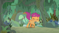Scootaloo shaking herself dry S9E22