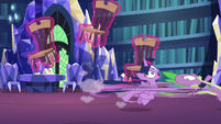 Spike dragging Twilight Sparkle away S7E15