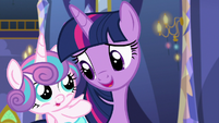 "Twilight Sparkle ""taught me a really cool bear game"" S7E3"