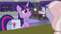 Twilight Sparkle blushing with pride S9E5
