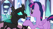 Twilight being friendly with Thorax S6E16