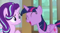 Twilight laughs sarcastically at Starlight S9E1