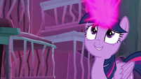 Twilight with magic collected in her horn S8E26