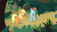 AJ and Rainbow notice their students leaving S8E9