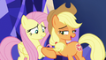 AJ nudges Fluttershy with her elbow S8E23.png