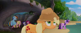Applejack wearing a drenched hat MLPTM