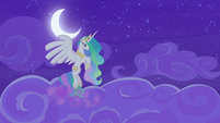 Celestia flies through the highest clouds S8E7