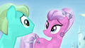 Crystal Ponies looking at each other S4E24.png