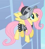 Fluttershy como Soldado Pansy T2E11