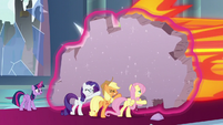 Fluttershy helps hold off the villains S9E24
