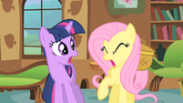 Fluttershy is covering up with coughing S1E22