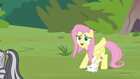 Fluttershy waves goodbye to Zecora S9E18