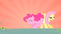 Pinkie Pie bumping Fluttershy S01E25