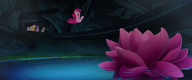 Pinkie Pie cannonballing into the water MLPTM