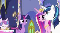 Princess Cadance asks where Spike is S7E3