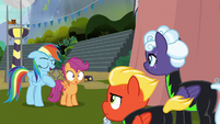 "Rainbow ""as a fellow aerobatic professional"" S8E20"