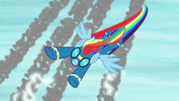 Rainbow Dash curving downward S8 opening