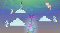 Rainbow Dash making the clouds snow S06E08