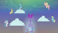 Rainbow Dash making the clouds snow S06E08