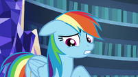 Rainbow Dash overcome with guilt S7E23