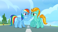 Rainbow Dash raises her wing S3E07