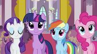 Rarity, Twilight, Rainbow Dash and Pinkie S2E02