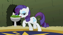 Rarity dragging herself away from the gems S2E01