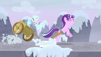 Starlight's cart restraints break S5E2