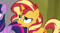 "Sunset Shimmer ""over a million books in here"" EGFF"