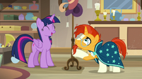 Twilight and Sunburst find an antique hat rack S7E24