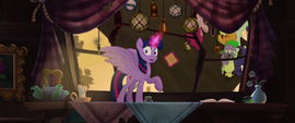 Twilight and ponies escaping Capper's house MLPTM