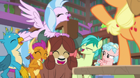 Young five laugh at Ocellus' AJ impression S8E22