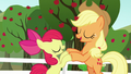 Apple Bloom and Applejack bump their hooves S5E17.png